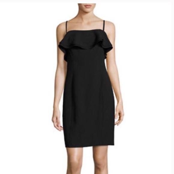 1ba6bae2 Karl Lagerfeld Dresses   Black Ruffle Sheath Dress   Poshmark